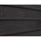 Фасадная доска ДПК Cedrus, чёрная тангенциальная