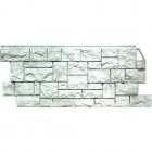 Фасадные панели FineBer (Фаинбер), «Дикий Камень» — Жемчужный