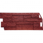 Фасадные панели FineBer серия Камень Природный Красно-коричневый